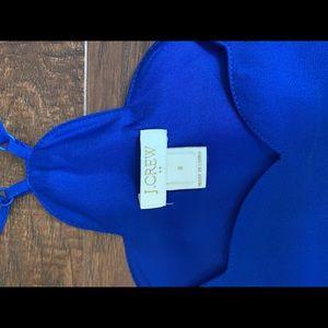 J. Crew Tops - J crew royal blue scalloped cami size 8